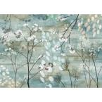 MHF Home Blue Floral 18 in. W x 13 in. L Polypropylene Placemat Set (4-Pack)