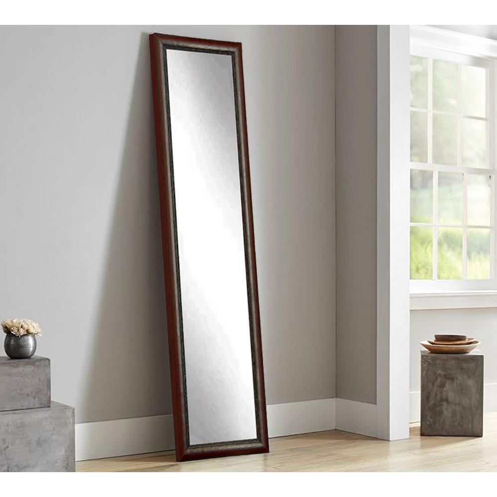 Carved Mahogany Full Length Framed Mirror