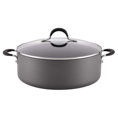 Momentum Hard-Anodized Nonstick 7.5-Quart Covered Stockpot, Gray