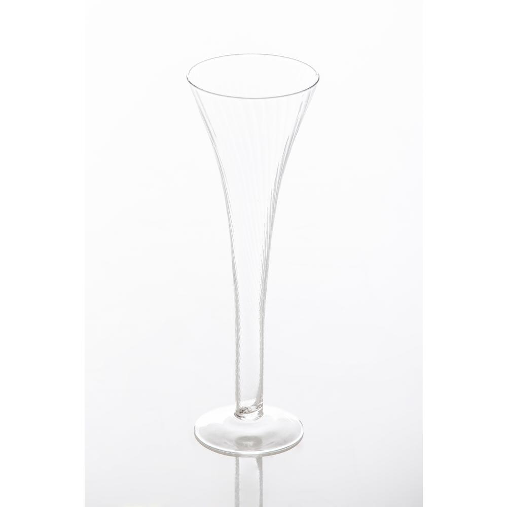 Champagne Flutes with Optic Design