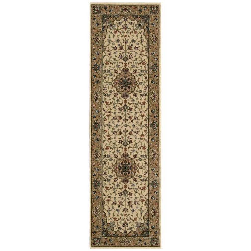 Nourison Persian Arts Ivory/Gold 2 ft. x 12 ft. Runner Rug