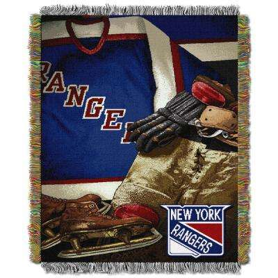Rangers Multi Color Vintage Tapestry Throw