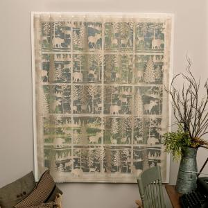 Lodge Hollow Natural Lace Curtain 60 in. W 84 in. L
