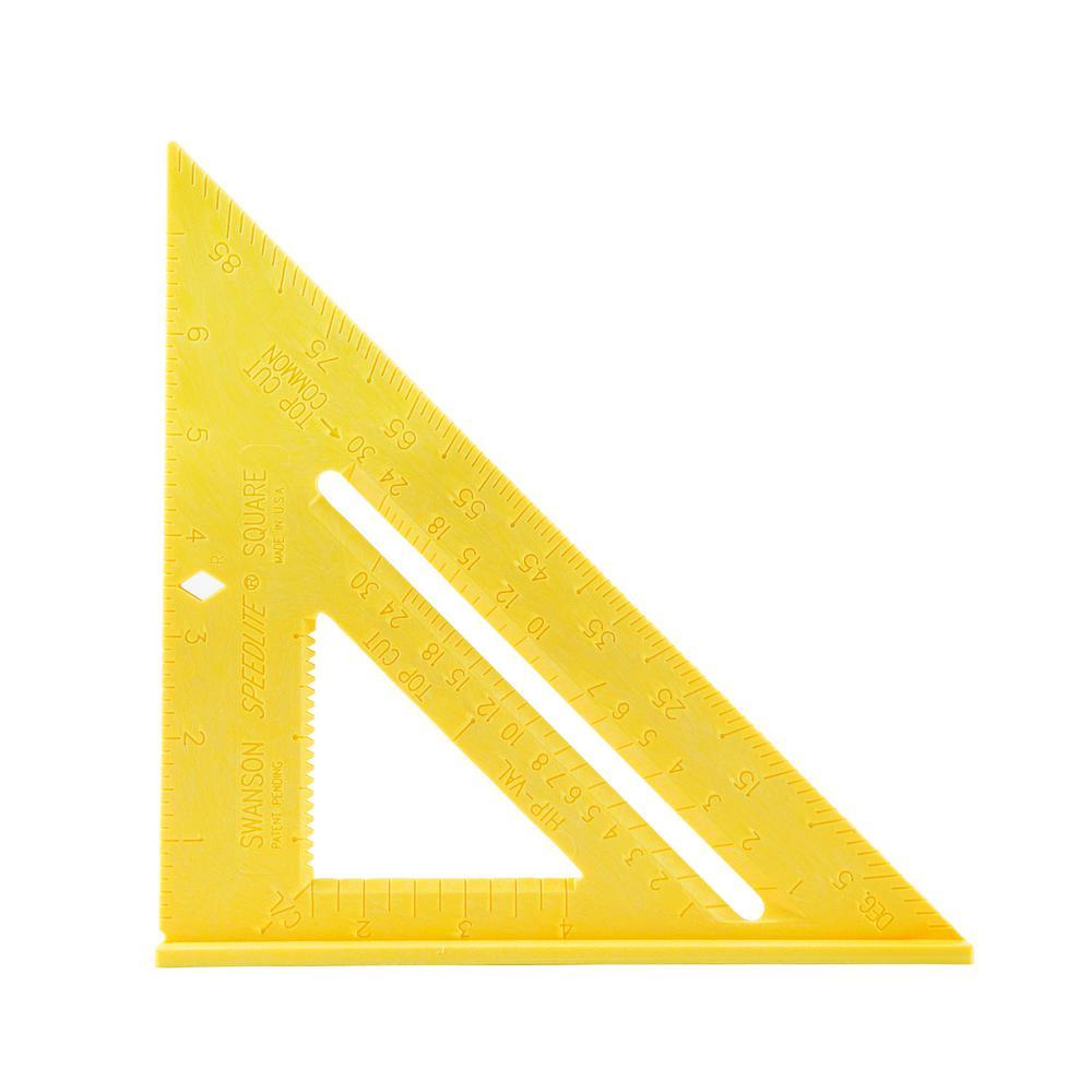 Speedlite 8 in. Yellow Speed Square