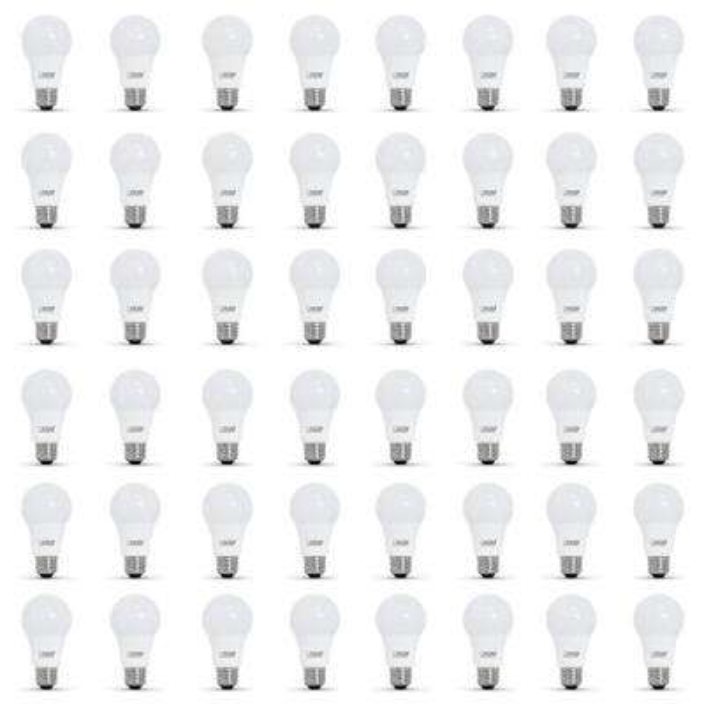 60-Watt Equivalent A19 Dimmable CEC Title 24 Compliant LED ENERGY STAR 90+ CRI Light Bulb, Soft White (48-Pack)