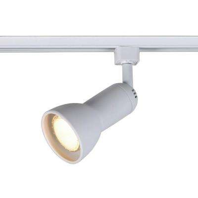 1-Light White R20/PAR20 Medium Linear Track Lighting Step Head