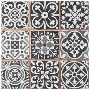 Faenza Nero 13 in. x 13 in. Ceramic Floor and Wall Tile (12.2 sq. ft. /Case)