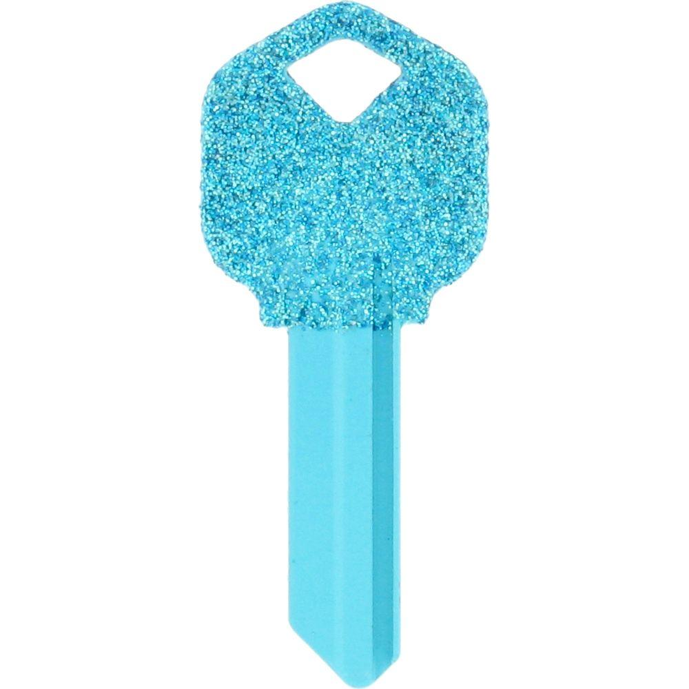 The Hillman Group #66 Diva Glitter House Key-89945 - The Home Depot