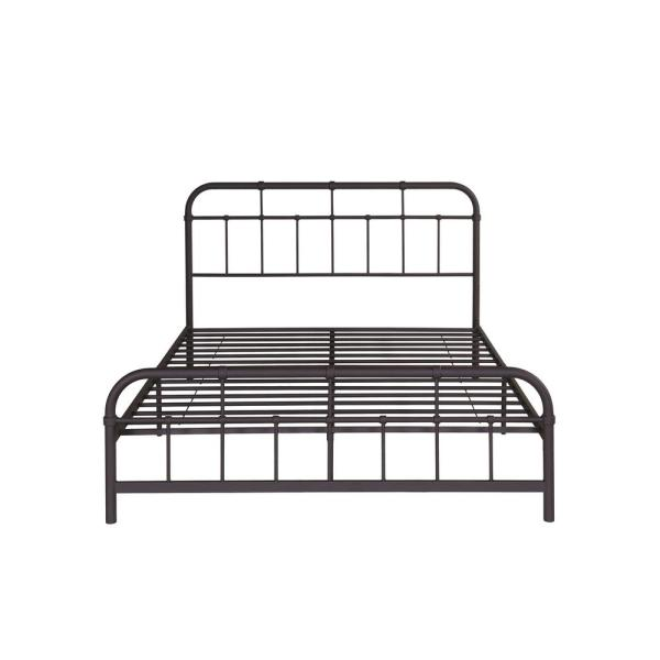Noble House Berthoud Industrial Queen-Size Hammered Copper Iron Bed Frame 307461
