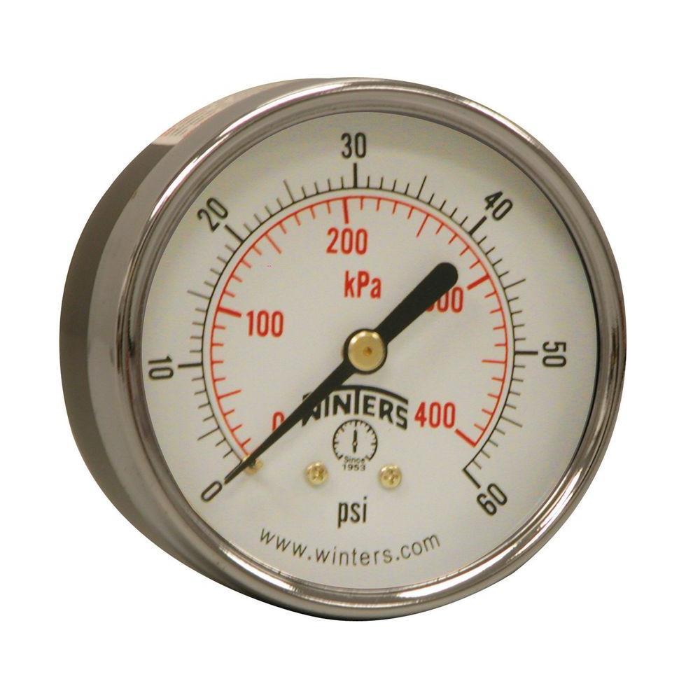 Winters Instruments Pem Series 25 In Black Steel Case Brass Tachometer 4 1 Internals Pressure Gauge With