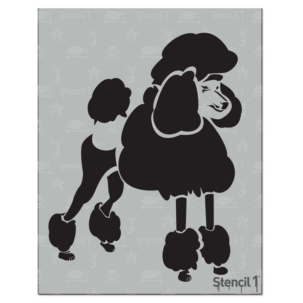 Stencil1 Poodle Stencil-S1_01_06 - The Home Depot