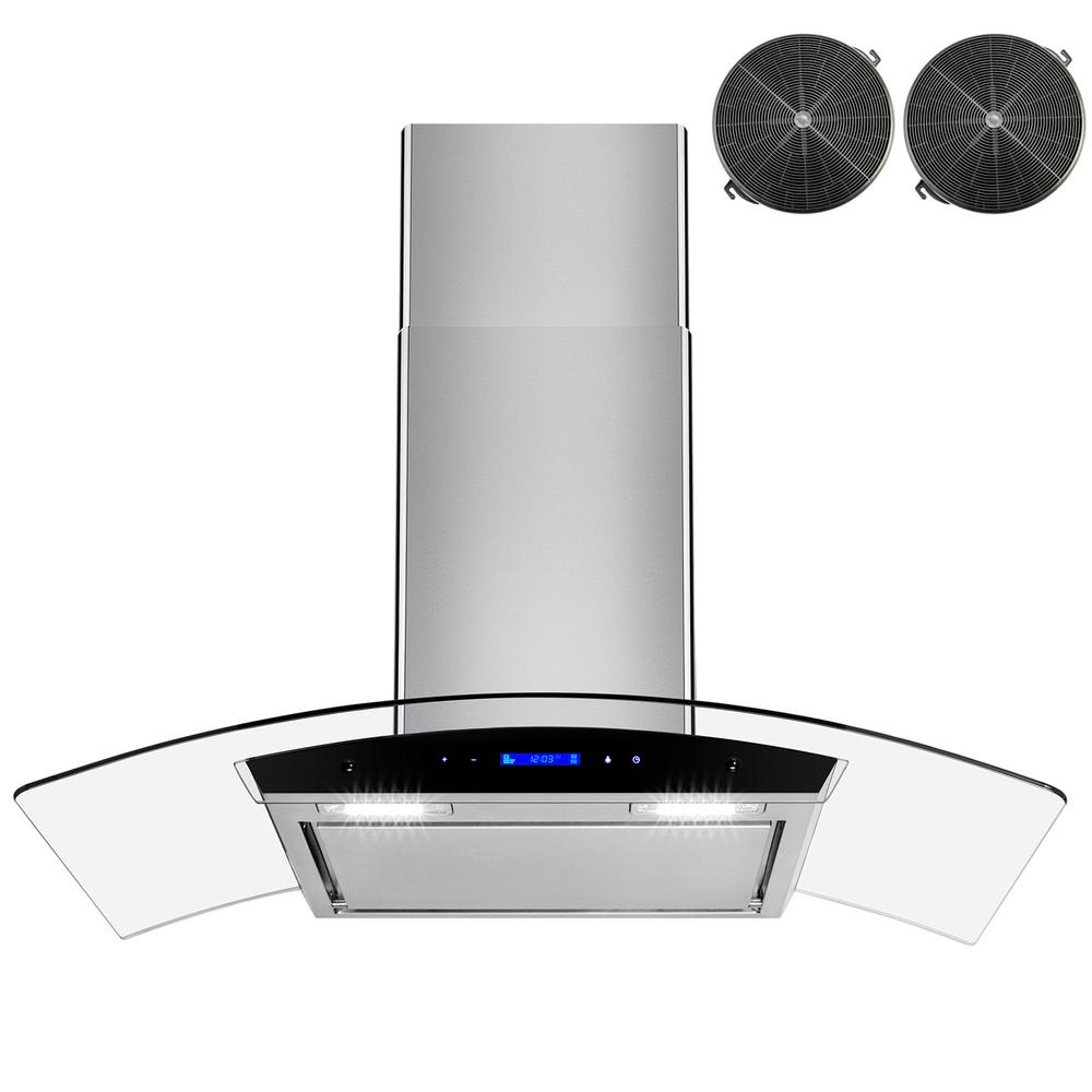 36 in. Convertible Wall Mount Range Hood in Stainless Steel with