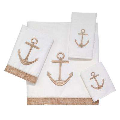 Rockport 4-Piece Bath Towel Set in White