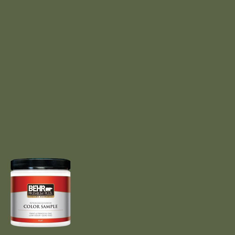 BEHR Premium Plus 8 oz. #ECC-38-3 Sea Fern Interior/Exterior Paint Sample