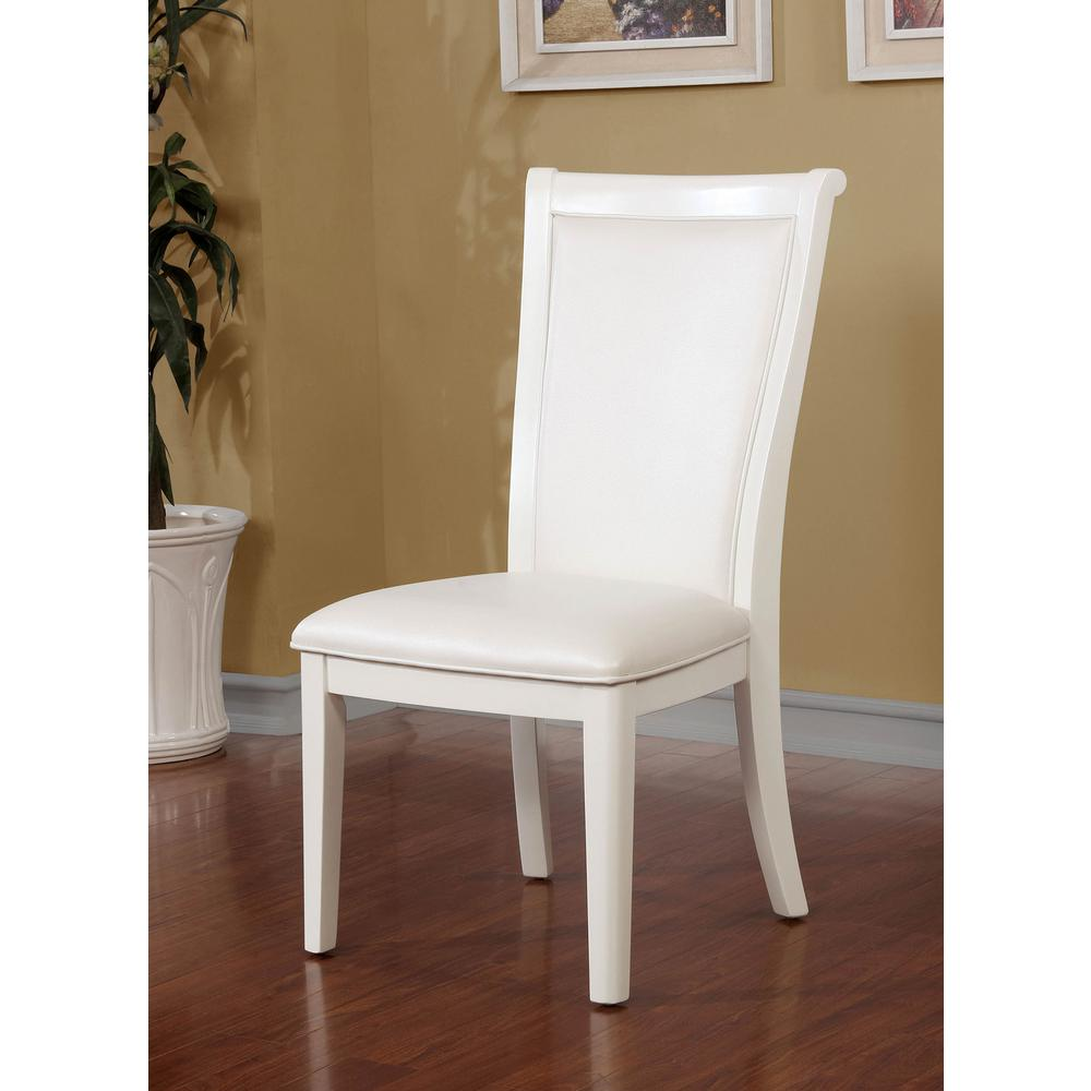Madeline Antique White Transitional Style Side Chair-CM3396SC-2PK - The  Home Depot - Madeline Antique White Transitional Style Side Chair-CM3396SC-2PK