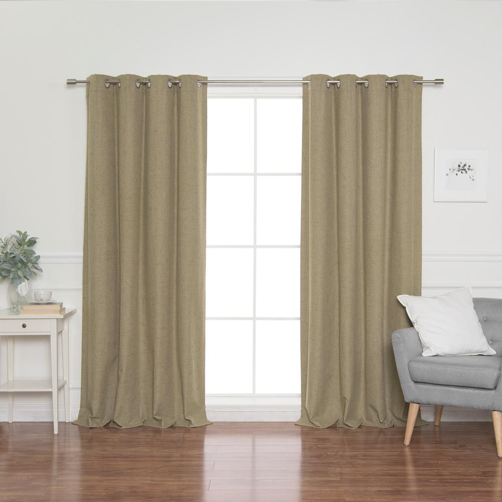 L Grommet Curtains In Brown 2 Pack