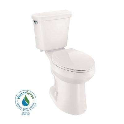 2-piece 1.0 GPF Single Flush Elongated Toilet in Biscuit