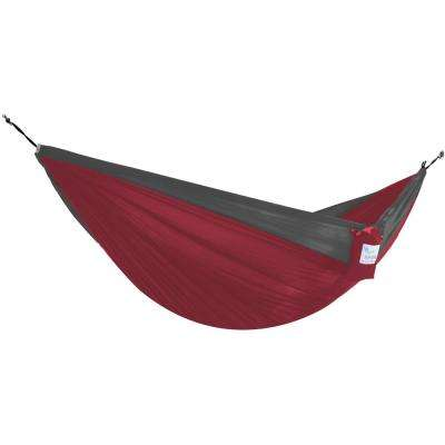 10.6 ft Portable Nylon Hammock in Crimson and Charcoal