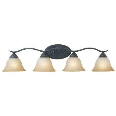 Prestige 4-Light Sable Bronze Wall Vanity Light