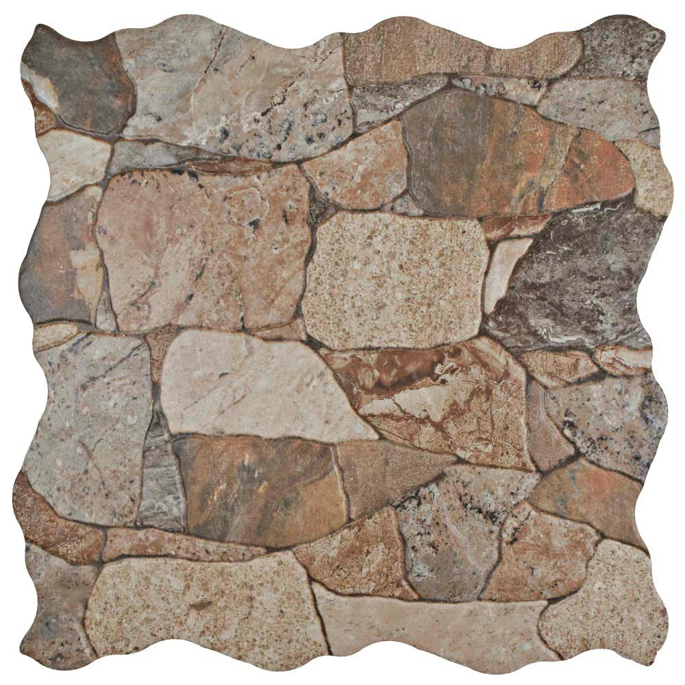Merola Tile Attica Gris 17-3/4 in. x 17-3/4 in. Ceramic Floor and ...