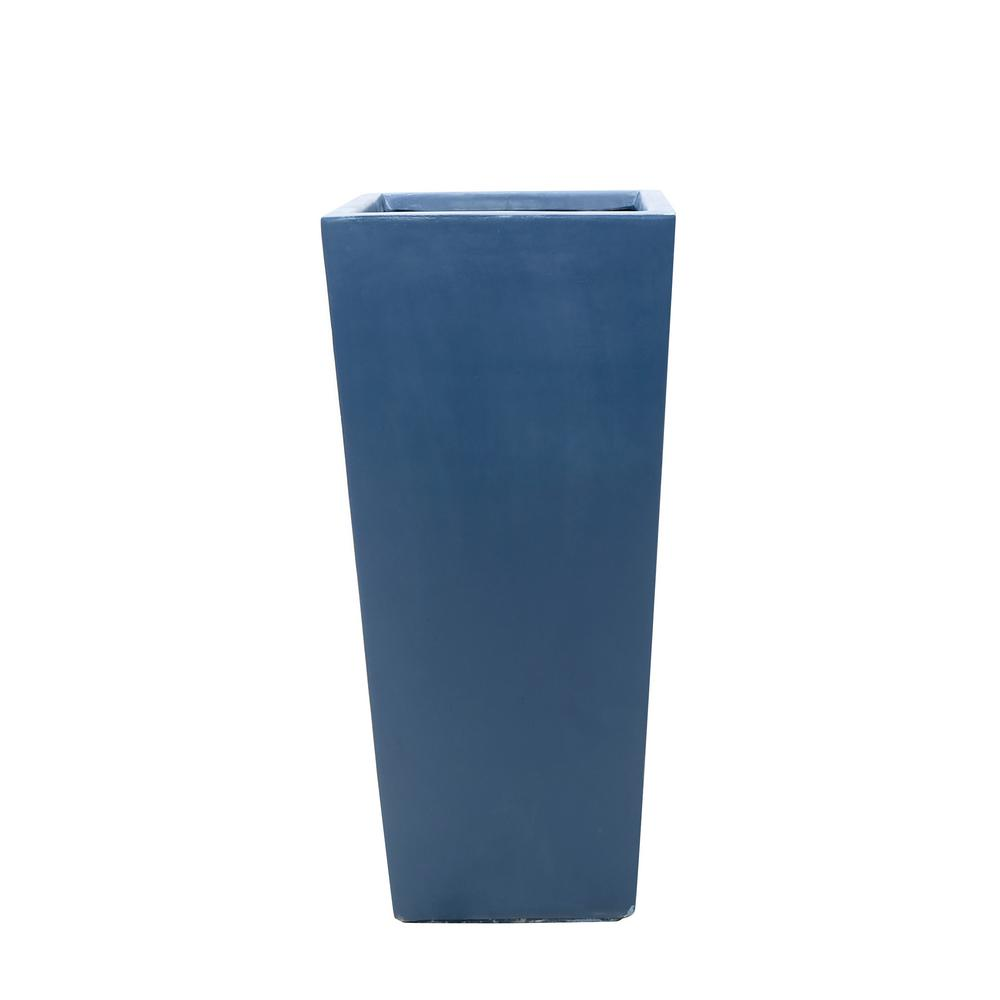 MPG 30 in  H Composite Tall Tapered Square Planter in Neptune Blue