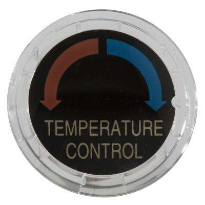 Button Cover for Monitor Pressure Balance Tub and Shower Knob Handle in Clear
