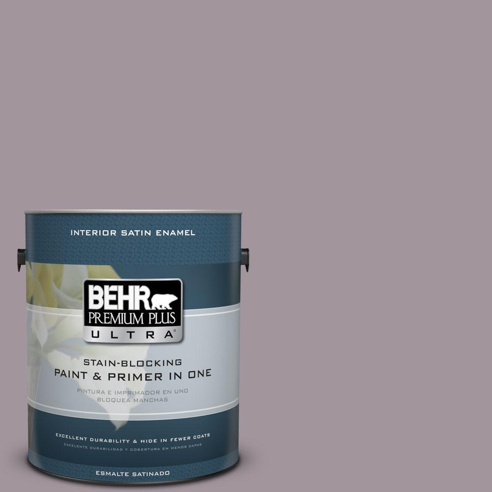 BEHR Premium Plus Ultra 1-Gal. #PPU17-13 Heather Plume Satin Enamel Interior Paint