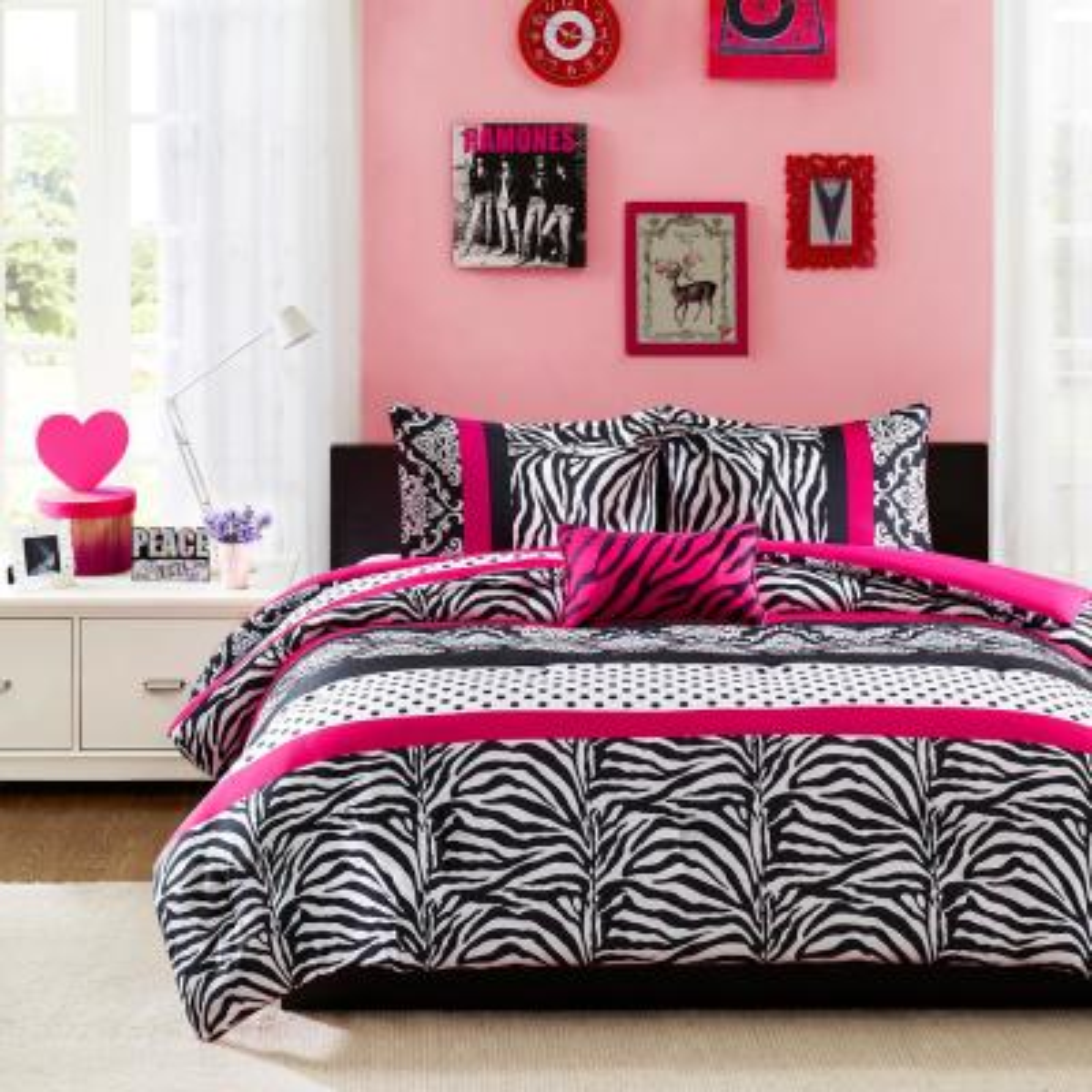 Gemma 3-Piece Pink Twin Comforter Set