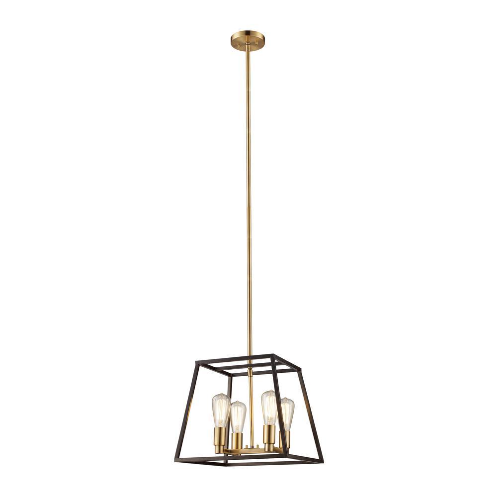 Bel Air Lighting Adams 4-Light Rubbed Oil Bronze Pendant
