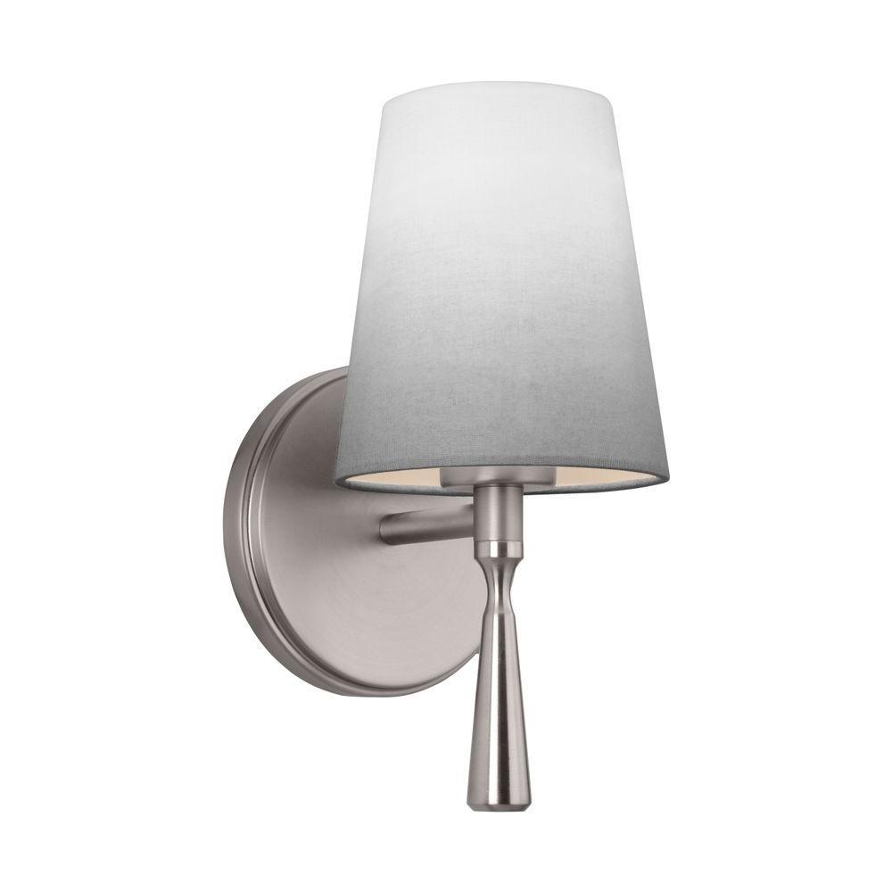 Tori 1-Light Satin Nickel Wall Sconce