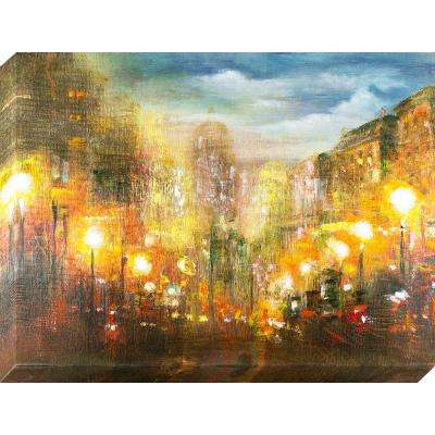 40 in. x 30 in. Evening Lights Oil Painted Canvas Wall Art