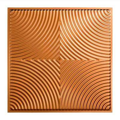 Echo - 2 ft. x 2 ft. Lay-in Ceiling Tile in Polished Copper