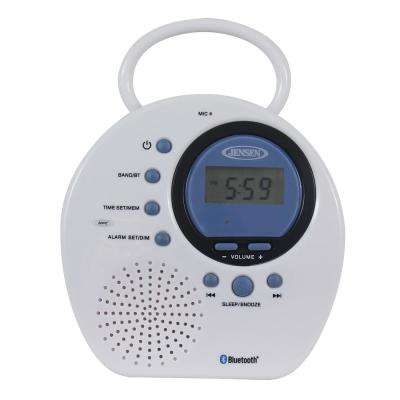 Water Resistant Digital AM/FM Bluetooth Shower Clock Radio with Digital Tuning