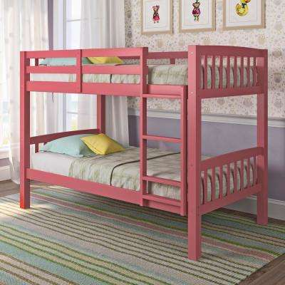Pink Bunk Loft Beds Kids Bedroom Furniture The Home Depot
