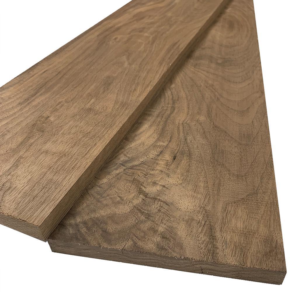 1 in. x 8 in. x 6 ft. Walnut S4S Board (2-Pack)