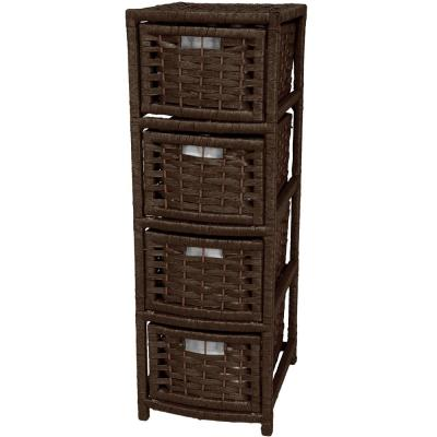 4-Drawer Mocha Natural Fiber Occasional Trunk