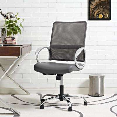 Command Mesh and Vinyl Office Chair in Gray