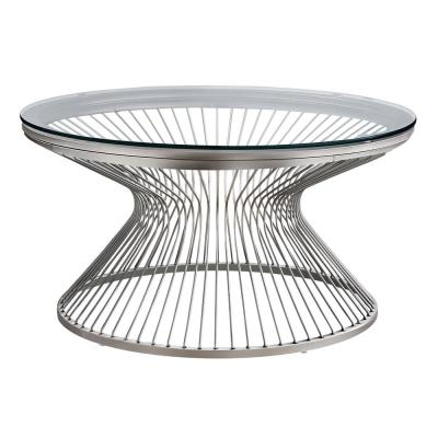 Silver with Glass Coffee Table