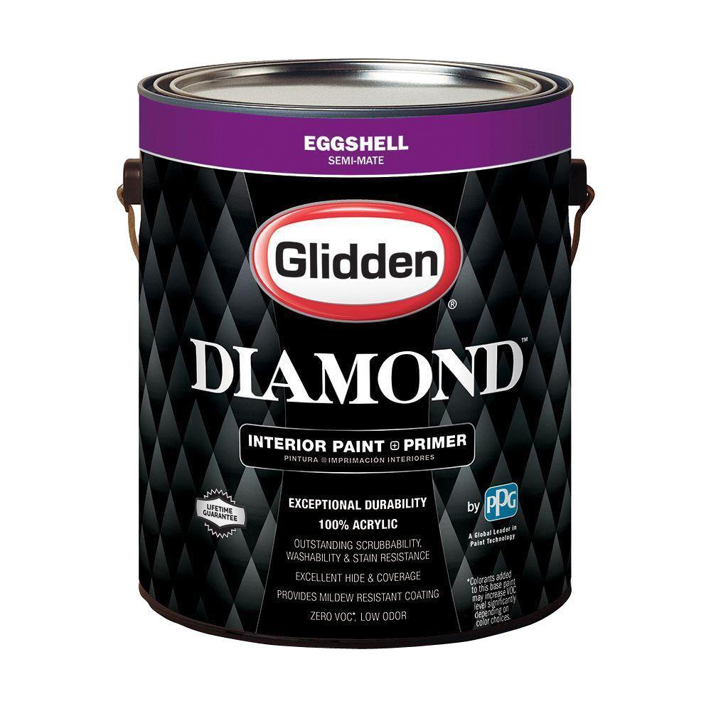 Glidden diamond 1 gal pure white eggshell interior paint - Eggshell vs semi gloss ...