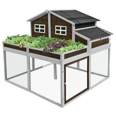 91 in. L x 91 in. W x 62.8 in. H Trio Garden Chicken Coop