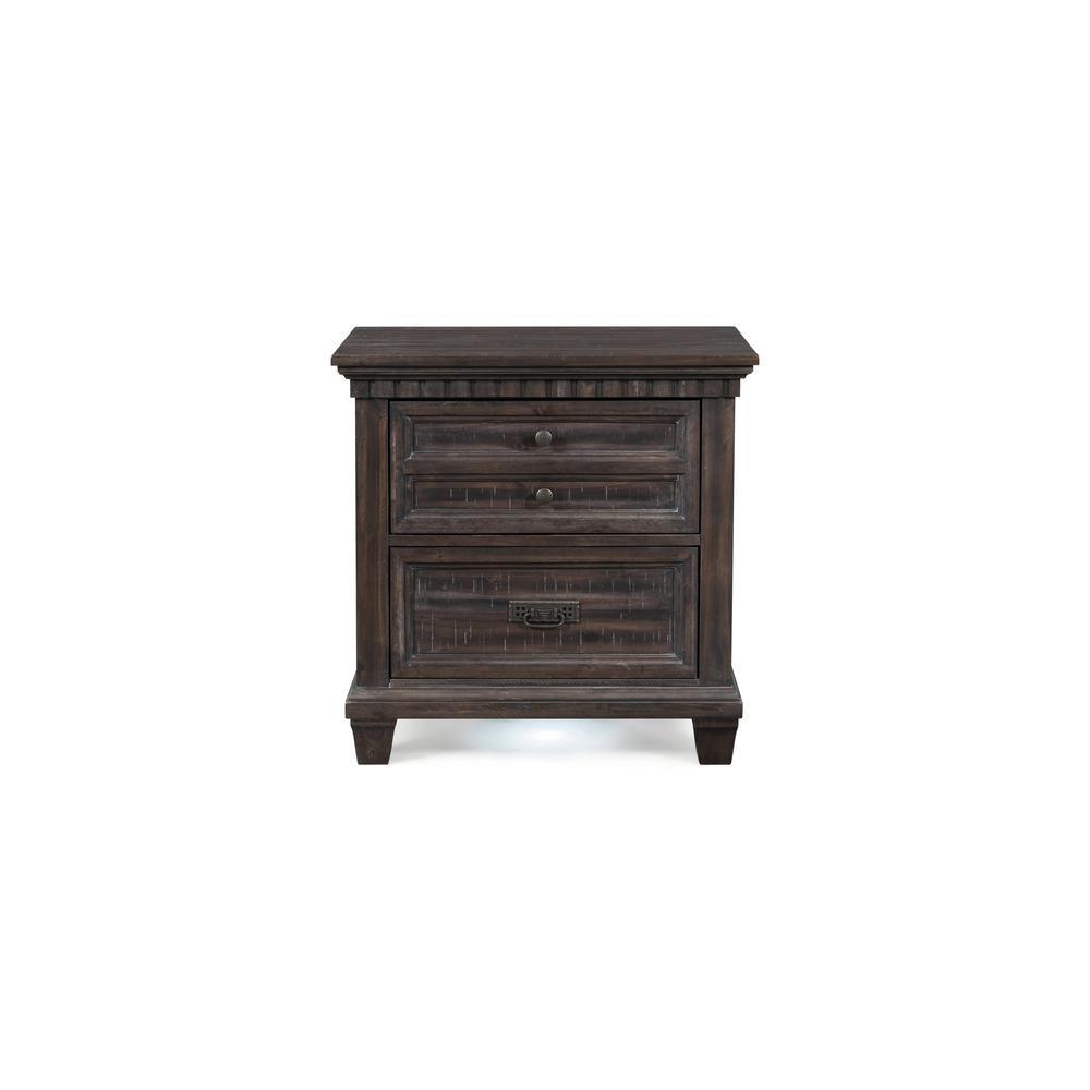 Steele 2-Drawer Nightstand in Smokey Gray Oak
