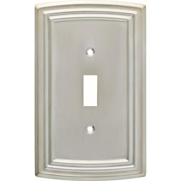 Nickel 1-Gang Toggle Wall Plate (1-Pack)