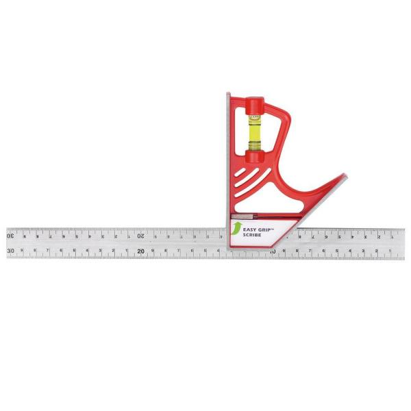 12 in. Magnetic Lock Combination Square with Zinc Head