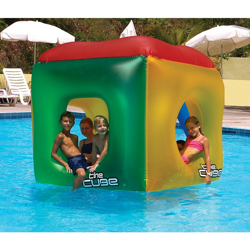 swimline the cube floating habitat swimming pool float 9088 the home depot. Black Bedroom Furniture Sets. Home Design Ideas