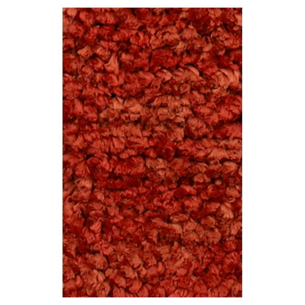 Kas Rugs Stocky Shag Orange 3 ft. 3 in. x 5 ft. 3 in. Area Rug