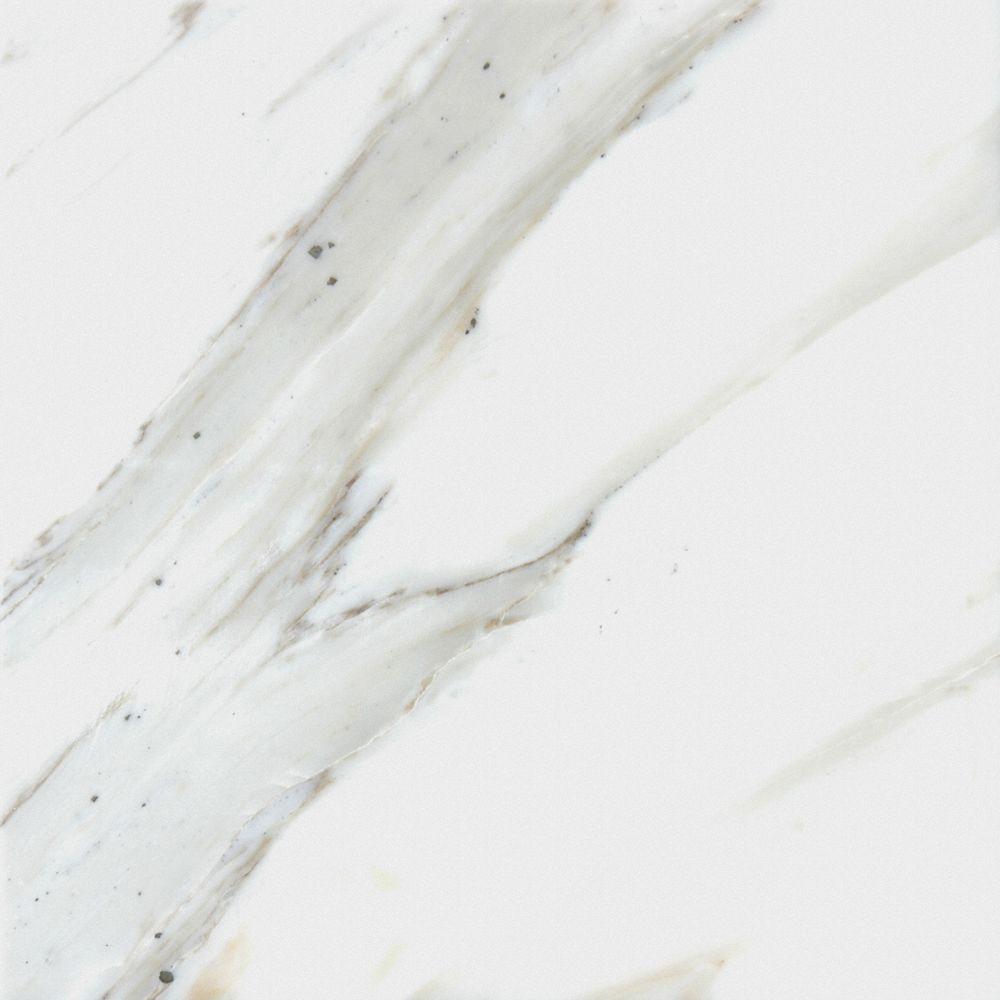 MSI Calcatta Ivory 12 in. x 12 in. Glazed Polished Porcelain Floor ...