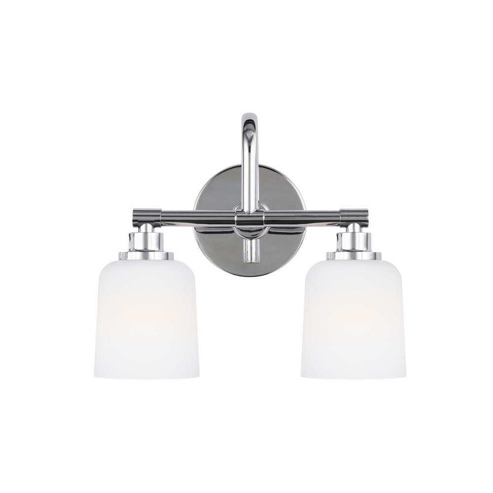 Reiser 2-Light Chrome Bath Light