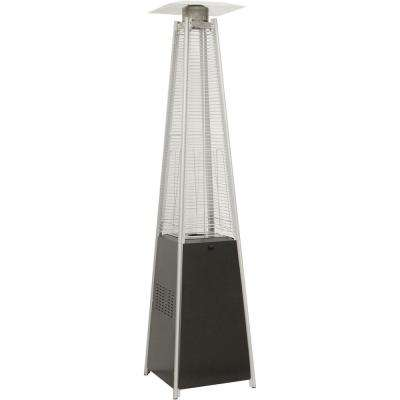 7 ft. 42000 BTU Pyramid Propane Patio Heater In Black
