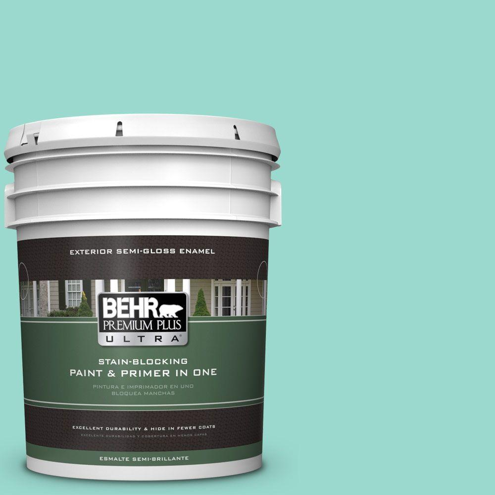 BEHR Premium Plus Ultra 5-gal. #P440-3 Fish Pond Semi-Gloss Enamel Exterior Paint