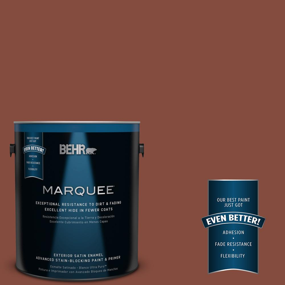 BEHR MARQUEE 1-gal. #S160-7 Red Chipotle Satin Enamel Exterior Paint